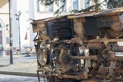 Une voiture de burn-out Images libres de droits