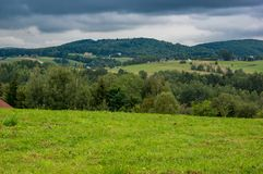 Une vue à la colline Photos libres de droits