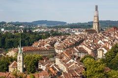 Une vue à la vieille ville de Berne Photo libre de droits