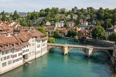 Une vue à la vieille ville de Berne Images stock