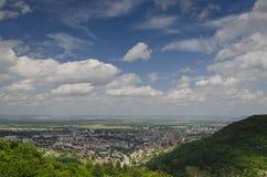Une vue à la ville de Shumen Image stock