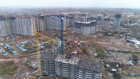 Une vue élevée sur un grand chantier de construction clips vidéos