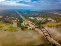 Une vue aérienne image stock