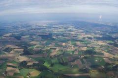 Une vue aérienne Photos stock