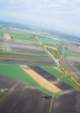 Une vue aérienne Images stock