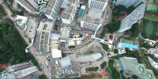 Une vue aérienne d'horizon de Hong Kong banque de vidéos