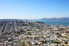 Secteur financier à San Francisco, Etats-Unis photo libre de droits