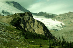 Une vue alpine Photo libre de droits