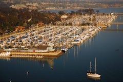 Une vue aérienne de Dana Harbor Image stock