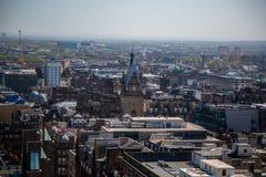 Une vue au-dessus de Glasgow City Centre de 17 planchers au-dessus de la rue de Bothwell regardant au-dessus de la station centra image libre de droits