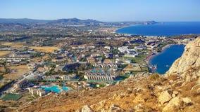 Une vue au-dessus de Rhodes Photo libre de droits