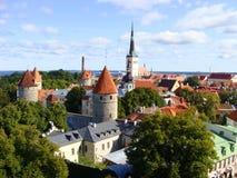 Une vue au-dessus de Tallinn, Estonie Photographie stock