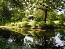 Une vue au jardin japonais à Moscou Images libres de droits