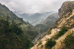 Une vue au moutain d'une ville près de Lima Photo libre de droits