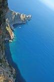 Une vue bird's-eye de la mer Photos stock