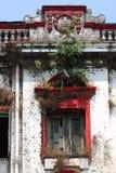 Une vue d'architecture de rue avec le bâtiment colonial dans la ville de Yangon Photo stock