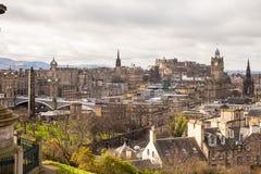 Une vue d'Edimbourg de la colline de Calton Photos stock