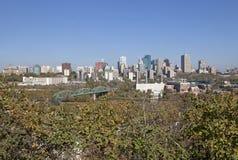 Une vue d'Edmonton, Canada photographie stock libre de droits
