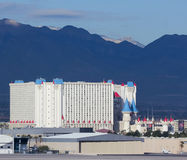 Une vue d'Excalibur d'aéroport international de McCarran Photos stock