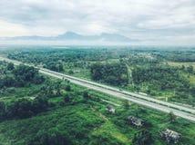 Une vue d'oeil d'oiseau de la Thaïlande d'un avion image libre de droits