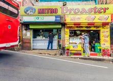 Une vue d'un avant Medellin Colombie de boutique photos stock