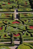 Une vue d'un jardin formel français Photos libres de droits