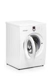 Une vue d'une machine à laver Photo stock