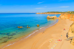 Une vue d'une plage du DA Rocha de Praia Photos libres de droits