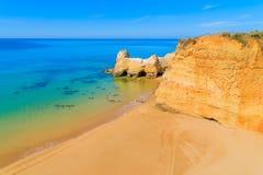 Une vue d'une plage du DA Rocha de Praia Photos stock