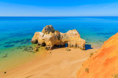 Une vue d'une plage du DA Rocha de Praia Image libre de droits