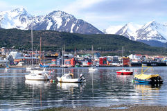 Une vue d'Ushuaia, Tierra del Fuego Photographie stock libre de droits
