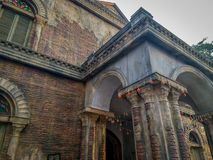 Une vue d'une vieille maison coloniale à Calcutta, Kolkata, Inde photographie stock