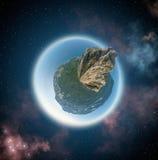 Une vue de 350 degrés dans l'espace Image libre de droits
