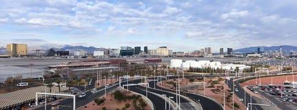 Une vue de bande de Las Vegas de McCarran Photos stock