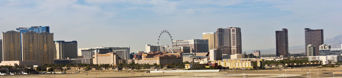 Une vue de bande de Las Vegas de McCarran Photos libres de droits