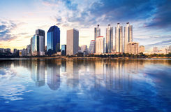 Une vue de Bangkok Images libres de droits