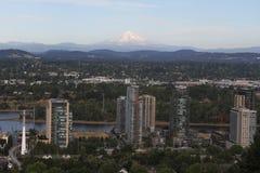 Une vue de capot de bâti de Portland, Orégon photo libre de droits