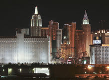 Une vue de casino de New York d'aéroport de McCarran Photo stock