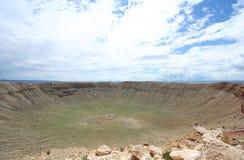 Une vue de cratère de météore Images stock