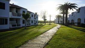 Une vue de fils Bou avec des palmiers un jour ensoleillé Photo stock
