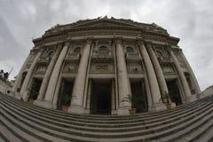 Une vue de fisheye de l'église de Capodimonte Photos libres de droits