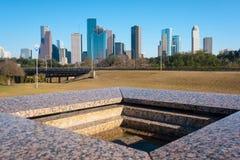 Une vue de Houston du centre de mémorial du ` s de Houston Police Officer images libres de droits
