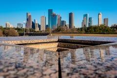 Une vue de Houston du centre de mémorial du ` s de Houston Police Officer image libre de droits