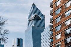 Une vue de 30 Hudson Yards par des immeubles en Chelsea New York City photographie stock