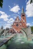 Une vue de l'église historique dans Szczecin, Pologne photographie stock libre de droits