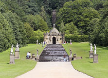 Une vue de la cascade de Chambre de Chatsworth, Angleterre Image stock