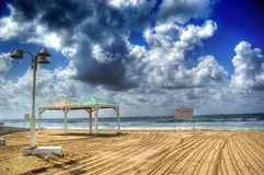 Une vue de la plage Photo libre de droits