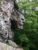 Une vue de la tête du ` s de diable dans la roche Image libre de droits