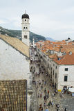 Une vue de la vieille ville de Dubrovnik Photos stock