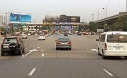 Plaza de route de route de péage d'autoroute urbaine de Bangkok Photo libre de droits